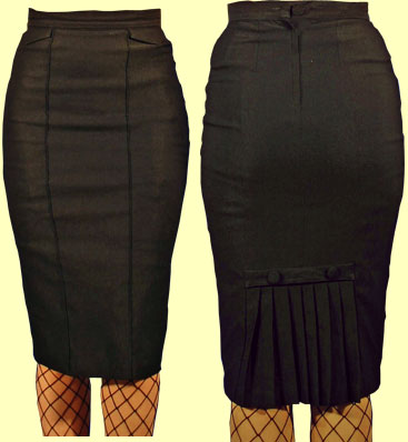Daddy O's Gifts & Collectibles :  daddyos pencil skirt black vintage inspired