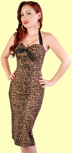Leopard Dress :  swing leopard animal print halter